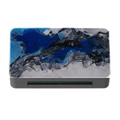 Blue Abstract No.4 Memory Card Reader with CF