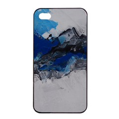 Blue Abstract No 4 Apple Iphone 4/4s Seamless Case (black)