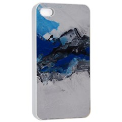 Blue Abstract No.4 Apple iPhone 4/4s Seamless Case (White)
