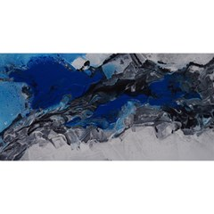 Blue Abstract No.4 YOU ARE INVITED 3D Greeting Card (8x4)