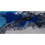 Blue Abstract No.4 ENGAGED 3D Greeting Card (8x4)  Back