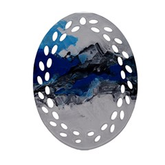 Blue Abstract No.4 Ornament (Oval Filigree)