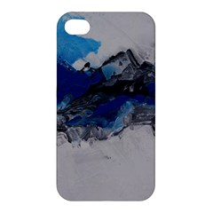 Blue Abstract No 4 Apple Iphone 4/4s Hardshell Case