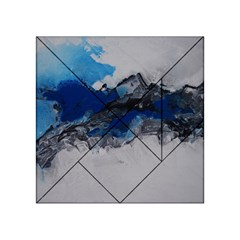Blue Abstract No.4 Acrylic Tangram Puzzle (4  x 4 )