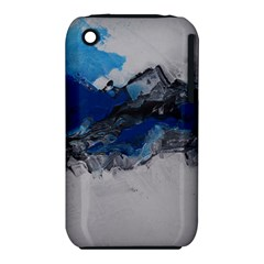 Blue Abstract No 4 Apple Iphone 3g/3gs Hardshell Case (pc+silicone)