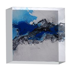 Blue Abstract No.4 5  x 5  Acrylic Photo Blocks