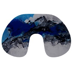 Blue Abstract No.4 Travel Neck Pillows