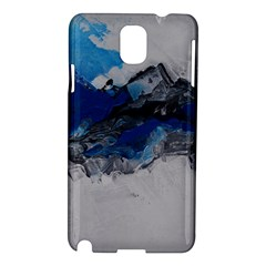 Blue Abstract No 4 Samsung Galaxy Note 3 N9005 Hardshell Case