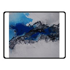 Blue Abstract No.4 Double Sided Fleece Blanket (Small)