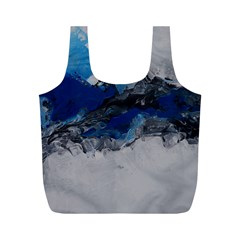 Blue Abstract No 4 Full Print Recycle Bags (m)