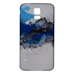 Blue Abstract No.4 Samsung Galaxy S5 Back Case (White)
