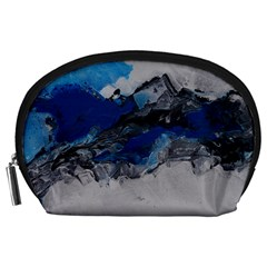 Blue Abstract No 4 Accessory Pouches (large)
