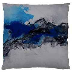Blue Abstract No.4 Large Flano Cushion Cases (One Side)