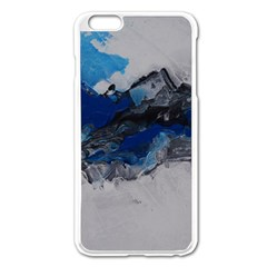 Blue Abstract No.4 Apple iPhone 6 Plus Enamel White Case