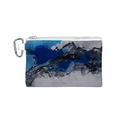 Blue Abstract No.4 Canvas Cosmetic Bag (S)