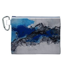 Blue Abstract No.4 Canvas Cosmetic Bag (L)