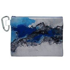 Blue Abstract No.4 Canvas Cosmetic Bag (XL)