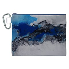 Blue Abstract No.4 Canvas Cosmetic Bag (XXL)