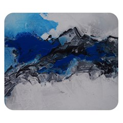 Blue Abstract No.4 Double Sided Flano Blanket (Small)