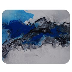 Blue Abstract No 4 Double Sided Flano Blanket (medium)
