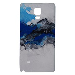 Blue Abstract No.4 Galaxy Note 4 Back Case