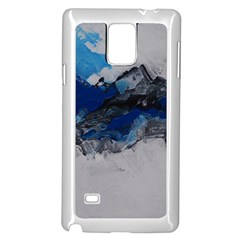 Blue Abstract No.4 Samsung Galaxy Note 4 Case (White)