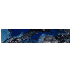 Blue Abstract No 4 Flano Scarf (small)