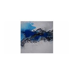 Blue Abstract No.4 Satin Wrap
