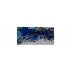 Blue Abstract No.4 Satin Scarf (Oblong)