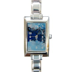 Blue Abstract No 5 Rectangle Italian Charm Watches