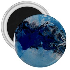 Blue Abstract No 5 3  Magnets