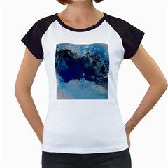 Blue Abstract No.5 Women s Cap Sleeve T