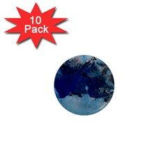 Blue Abstract No 5 1  Mini Magnet (10 Pack)