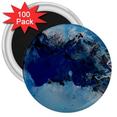 Blue Abstract No 5 3  Magnets (100 Pack)
