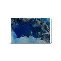 Blue Abstract No 5 Magnet (name Card)