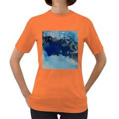 Blue Abstract No 5 Women s Dark T Shirt