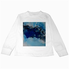 Blue Abstract No.5 Kids Long Sleeve T-Shirts