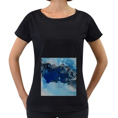 Blue Abstract No 5 Women s Loose Fit T Shirt (black)