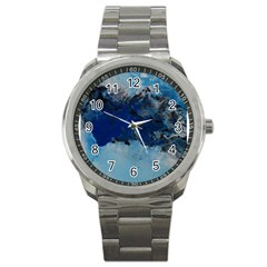 Blue Abstract No 5 Sport Metal Watches