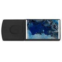 Blue Abstract No 5 Usb Flash Drive Rectangular (4 Gb)