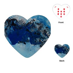 Blue Abstract No 5 Playing Cards (heart)