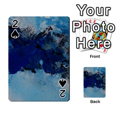 Blue Abstract No 5 Playing Cards 54 Designs