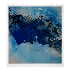 Blue Abstract No 5 Shower Curtain 66  X 72  (large)