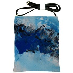 Blue Abstract No 5 Shoulder Sling Bags