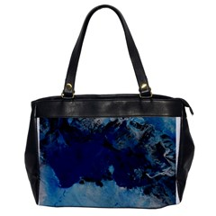Blue Abstract No 5 Office Handbags