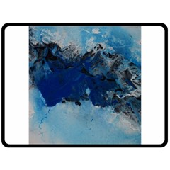 Blue Abstract No.5 Fleece Blanket (Large)