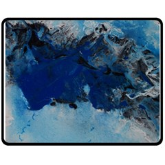 Blue Abstract No.5 Fleece Blanket (Medium)