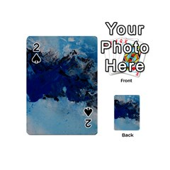 Blue Abstract No 5 Playing Cards 54 (mini)