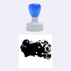 Blue Abstract No.5 Rubber Round Stamps (Medium)