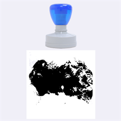 Blue Abstract No 5 Rubber Round Stamps (large)